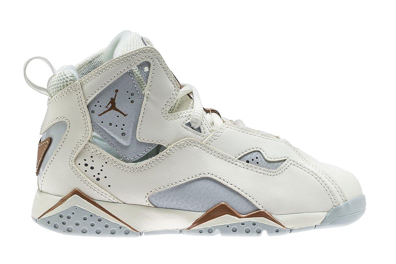 7791d514d93 Amazon.com | Nike Air Jordan True Flight GP Little Kids' Basketball Shoes  Sail/Metallic Red Bronze, 2 | Basketball