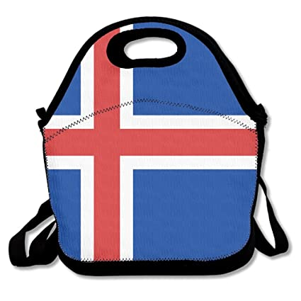 fae1e35d5673 Amazon.com - FutongHuaxia The Icelandic Flag Outdoor Lunch Bag Lunch ...