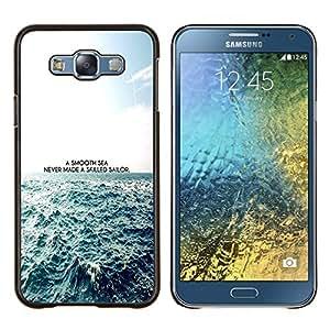 LECELL--Funda protectora / Cubierta / Piel For Samsung Galaxy E7 E700 -- Un mar impresiones Smooth --