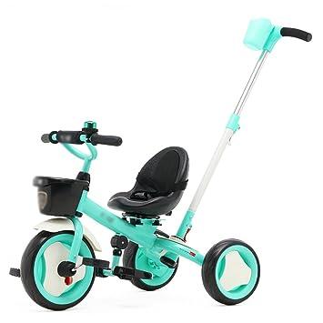 Triciclos Triciclo de niños Bicicleta de bebé Carruaje 2-3-6 años de edad