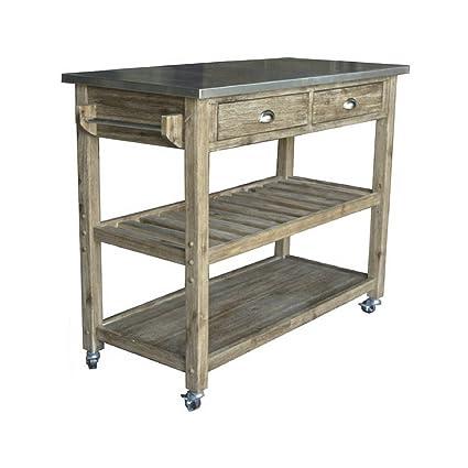 Amazon.com: Mobile Kitchen Island Utility Cart Stainless ...