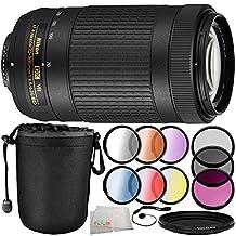 Nikon AF-P DX NIKKOR 70-300mm f/4.5-6.3G ED VR Lens (White Box) 10PC Accessory Bundle - Includes 3 Piece Filter Kit (UV + CPL + FLD) + 6PC Graduated Filter Kit + MORE - International Version (No Warranty)
