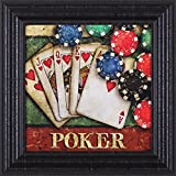 Art Effects Poker Framed Artwork, Red/Blue/Green/Black