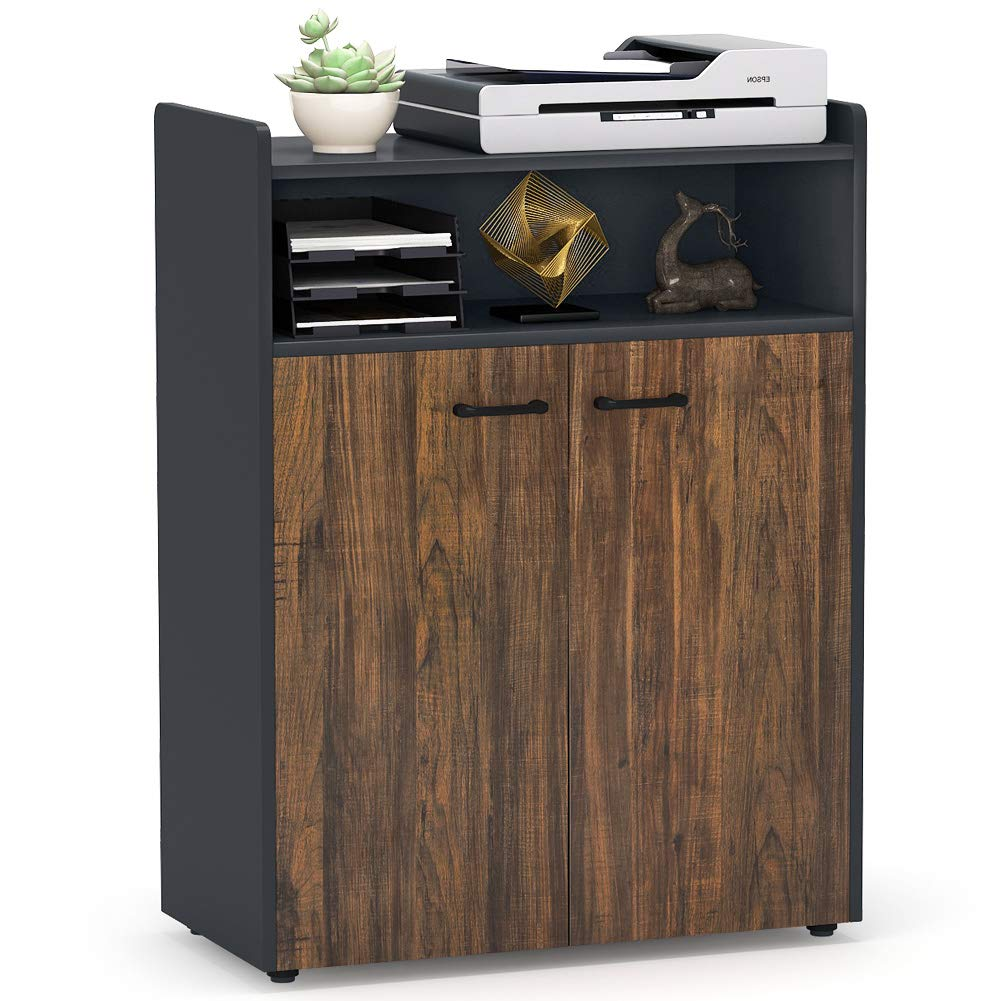 Tribesigns Office Storage Cabinet, Industrial Large Tall File Cabinet Printer Stand with Storage Shelves and Doors for Home Office by Tribesigns (Image #2)