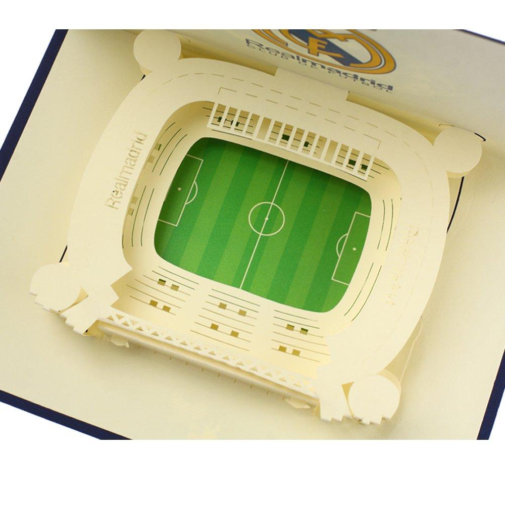 Creative 3D Real Madrid Stadium Handmade Paper Greeting Card ...
