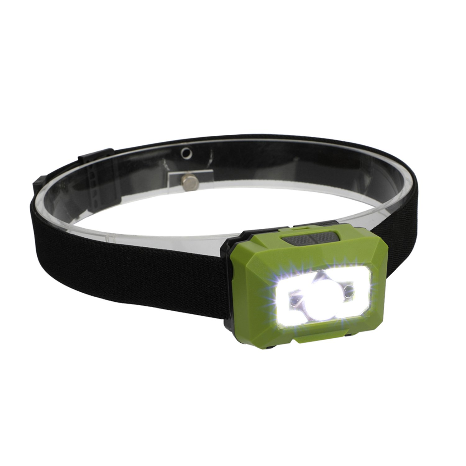 three trees Rechargeable Waterproof LED Camping Headlamp With Red Light,Head Torchlight Sensor Brightest Flashlight for Kids, Men, Women.Waterproof for Running, Walking,Reading,Camping (green)