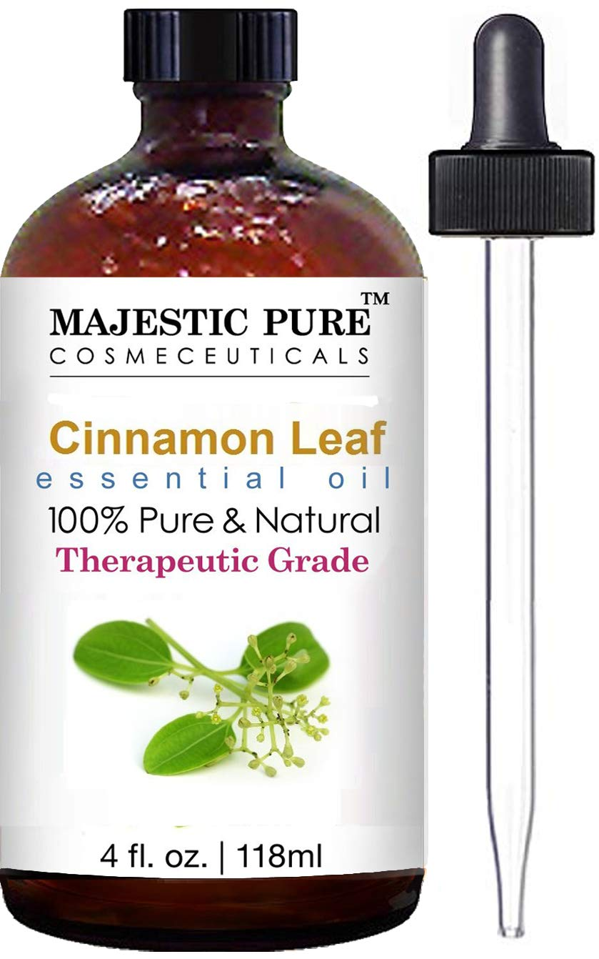 Majestic Pure Cinnamon Essential Oil - Pure and Natural, Therapeutic Grade Cinnamon Oil - 4 fl oz
