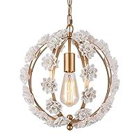 Flower Classic Chandelier Handmade Ceramics Pendant Light for Living Room Dining...