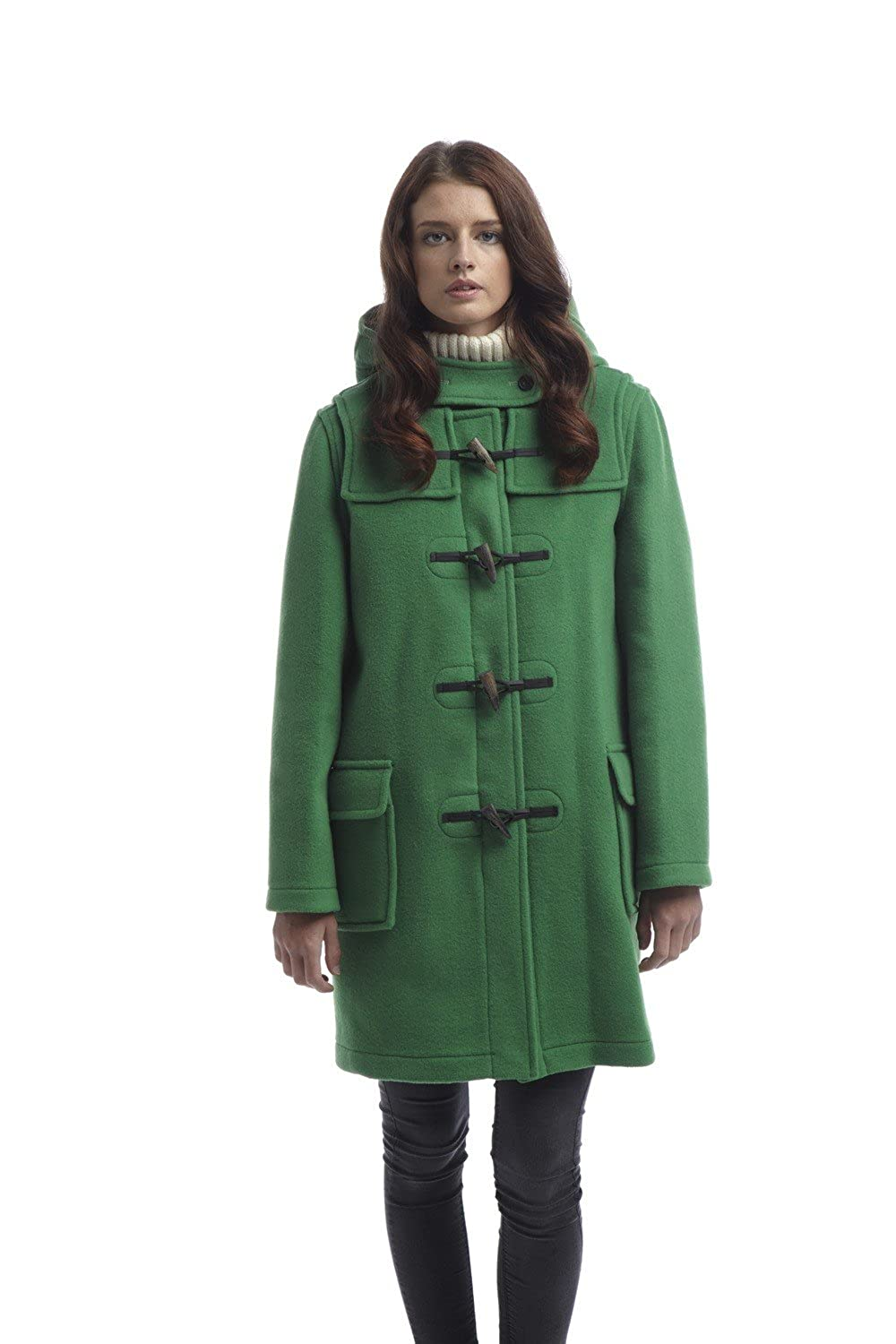 Amazon.com: Womens Classic Duffle coats -- Green: Clothing
