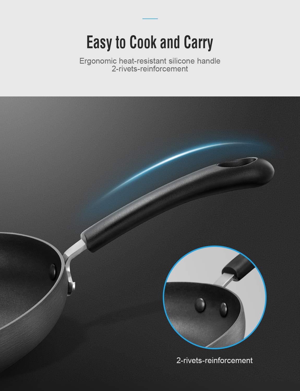 Induktionsgeeignet sp/ülmaschinenfest PFOA frei 28 cm Deik Pfanne Bratpfanne aus geschmiedetem Alu mit Antihaftbeschichtung f/ür /ölfreies Kochen