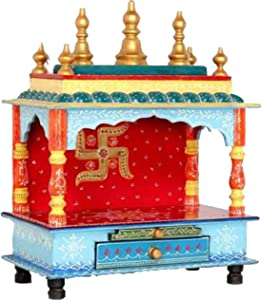 Makan Wooden Temple/Home Temple/puja mandir/Wooden Temple/Temple for Home/puja ghar/Temple/Pooja Mandir/Temple for Home/Office Temple/Navratre/Diwali Festive Season Gifts and puja