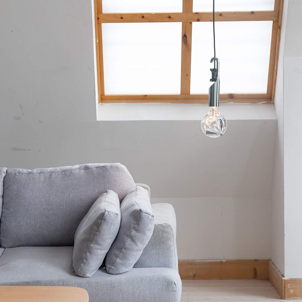 Move Me Lampada a sospensione a soffitto con cavo intrecciato da 150cm e portalampada LED E27 Lampada a sospensione con cavo regolabile Nuova plafoniera di design Lampadina non inclusa Twist Bianco
