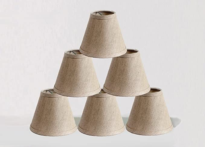 Onepre clip on chandelier lamp shades hardback candle linen onepre clip on chandelier lamp shades hardback candle linen lampshade 6 inch set mozeypictures Choice Image
