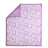 Purple Floral Rose Reversible 100% Cotton Baby Crib Quilt by The Peanut Shell