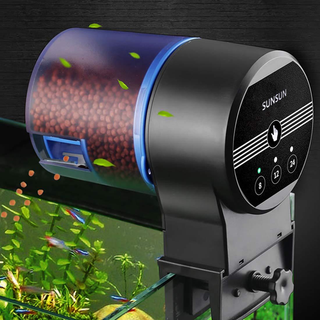 Iseebiz Automatic Tank Feeder Koi Goldfish Feeder Aquariums Moisture-Proof Intelligent Timing Feeding Machine, 2 Fish Food Dispenser. by Iseebiz (Image #1)
