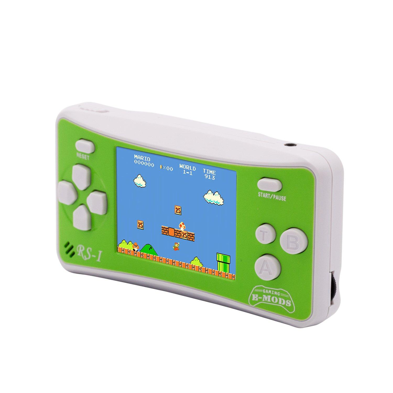 E-WOR - Videoconsola portátil de 8 bits con Pantalla LCD de 2,5