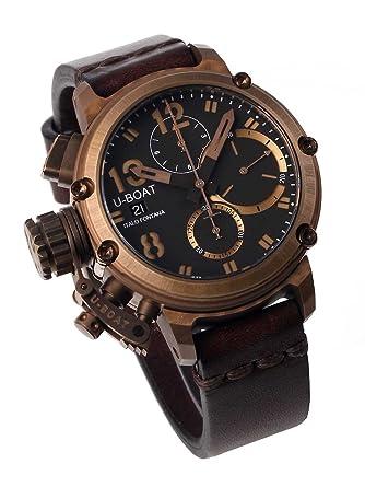 f62c4f7e9ee4 Amazon.com  U-Boat 8014 Chimera Bronze Chrono 43mm 10ATM  Watches