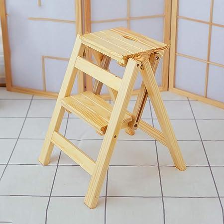 SRFDD Taburete de Dos escalones Madera, Escaleras de Cama para niños Abuelos Escalera de Mascotas Reposapiés Antideslizante Construcción Escaleras de Cama para el hogar Oficina Cocina Armario Baño,B: Amazon.es: Hogar