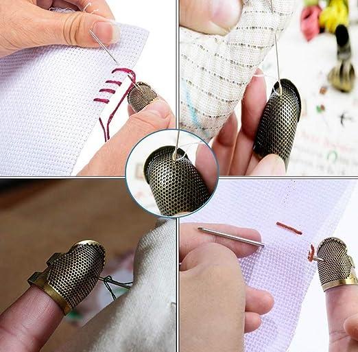 5pcs del hogar de Costura Herramientas de Bricolaje Dedo Protector de acolchar Craft Accesorios Dedo de Goma c/ómodo
