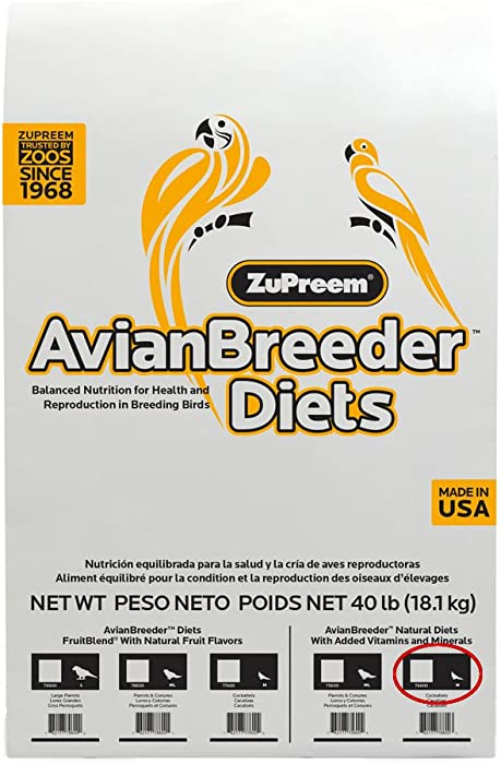 Zupreem 230344 Natural Avian Breeder Food For Birds, Medium, 40-Pound