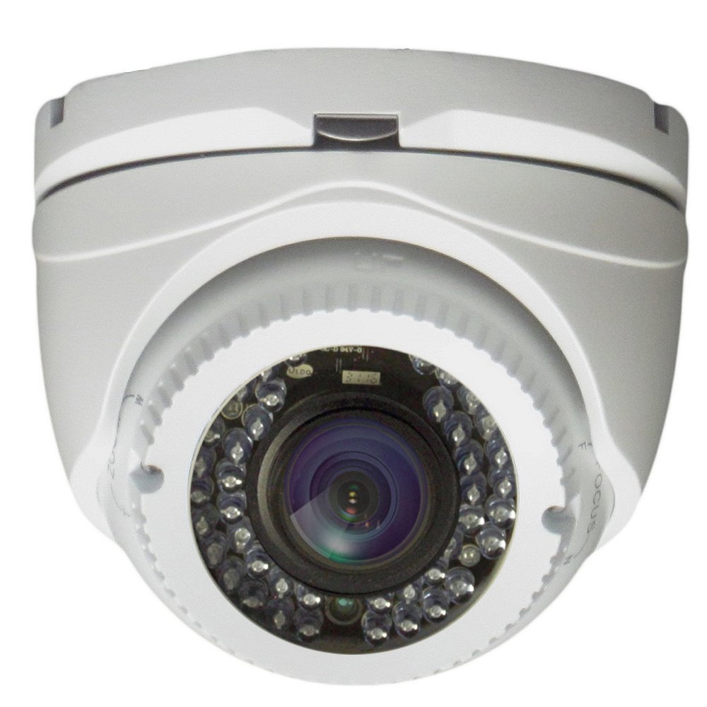 AVUE 1080P Full HD HD-TVI 2.8-12mm Lens Varifocal White Turret Camera, Indoor/Outdoor Camera, 120ft IR Distance, 12V DC, IP66 Weatherproof, Vandal proof, CMOS Image Sensor by AVUE