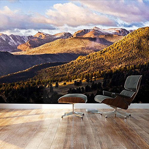 Gorgeous serene mountain wilderness Landscape Wall Mural