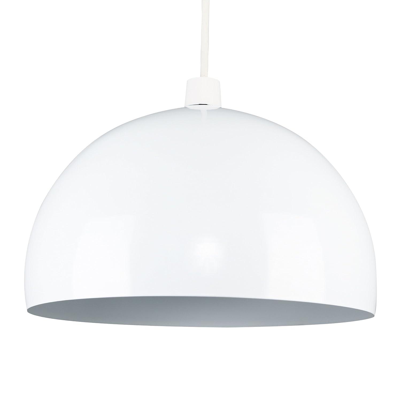 Modern Gloss White Metal Dome Ceiling Pendant Light Shade: Amazon.co ...