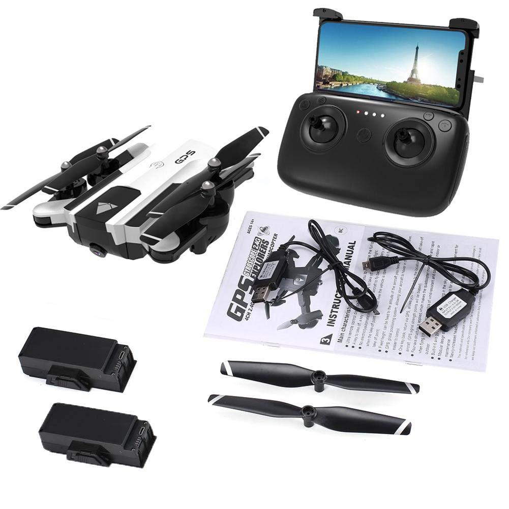 miaoqian170 - Radio GPS (1080P, Wi-Fi, FPV, GPS, RC, SG900-S), Color Blanco