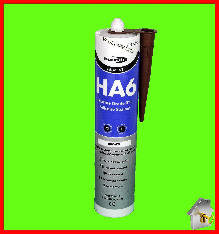 Silicone Sealant HA6 Marine Grade Safe 4 Fish in Brown