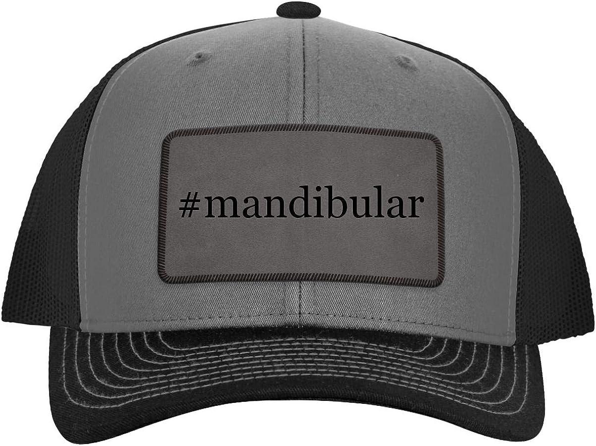 One Legging it Around #Mandibular - Hashtag Leather Grey Patch Engraved Trucker Hat