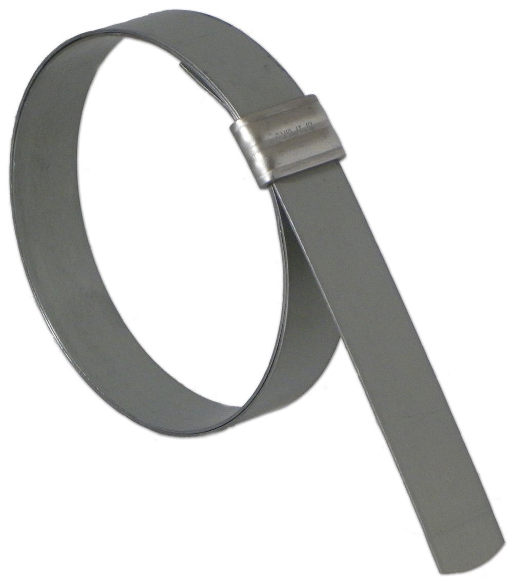 BAND-IT JS3019 Junior 3/8'' Wide x 0.025'' Thick, 13/16'' Diameter, Galvanized Carbon Steel Smooth I.D. Clamp (100 Per Box)
