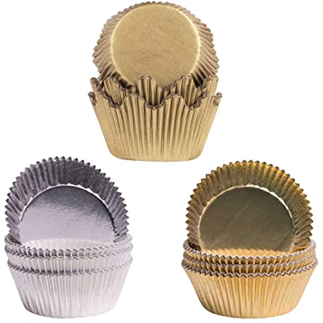 Demmler Corona Moldes – Moldes de Dorado y Plateado Pergamino para – Cupcakes – para Decorar
