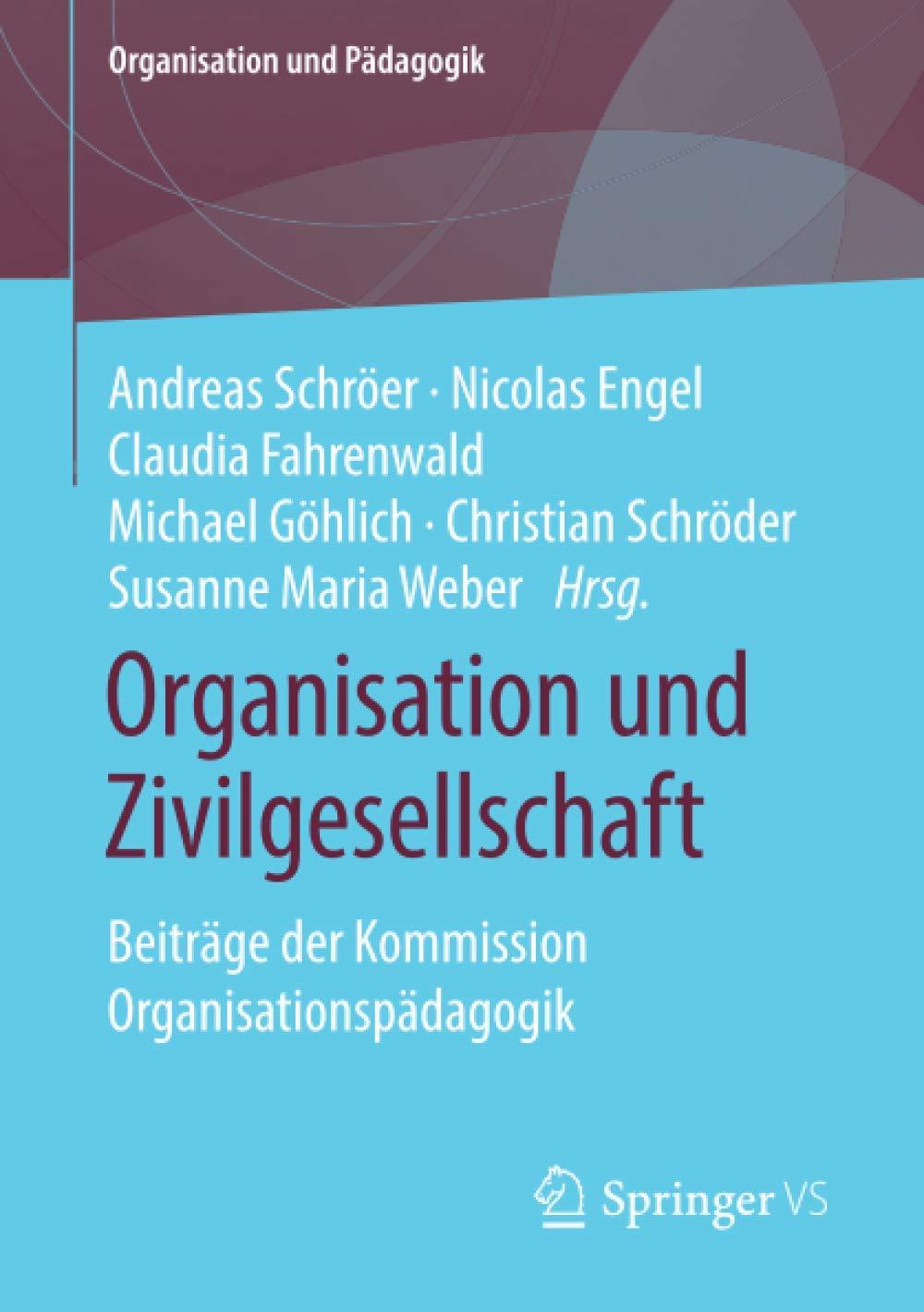 """Bild vom Buchcover des Sammelbandes """"Organisatione und Zivilgesellschaft. Beiträge der Kommission Organisationspädagogik"""