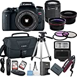 Canon EOS Rebel T6S Digital SLR Camera with EF-S 18-55mm Bundle includes Camera, Lenses, Filters, Bag, Memory Cards, Tripod, Flash, Remote Shutter and More - International Version