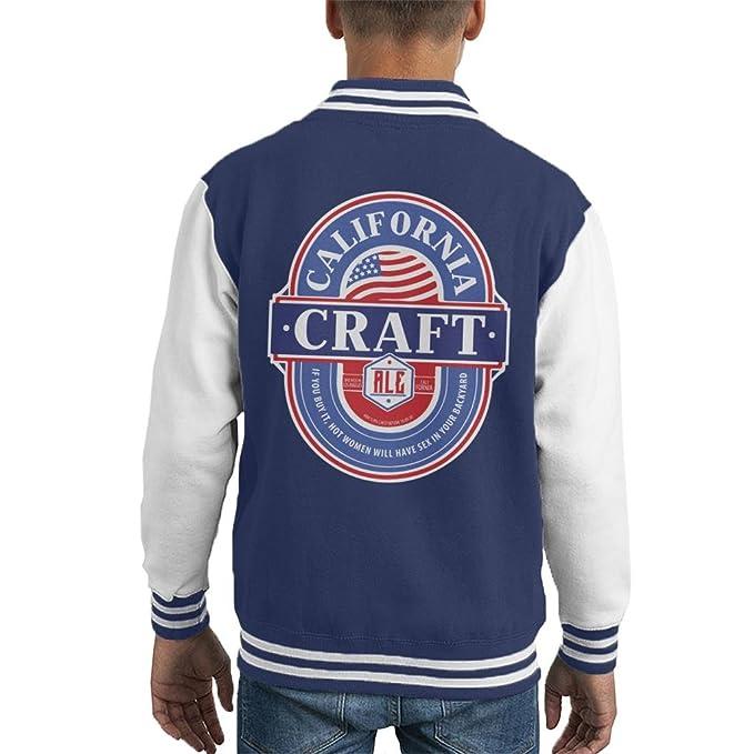 California Craft Ale Kids Varsity Jacket: Amazon.es: Ropa y ...