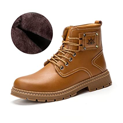 e9c1ac6dc033 Amazon.com : HEmei Men's Boots Outdoor Casual Leather Shoes Fall ...
