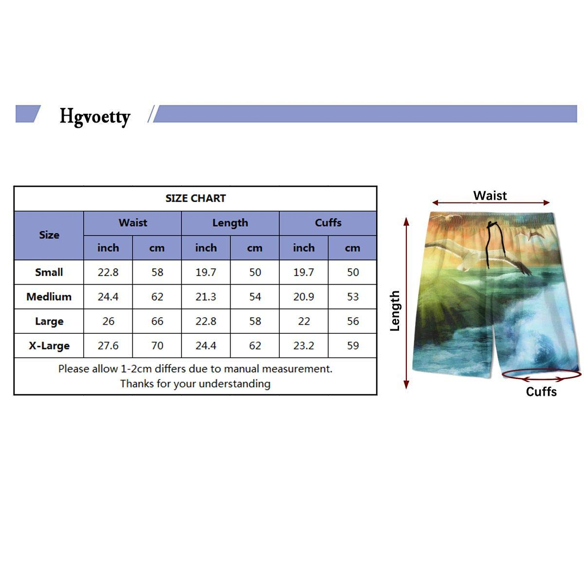 Teen Comfortable Hawaii Waves Jogging Fashion Beach Shorts Swim Trunks Board Shorts