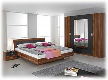 Komplette Schlafzimmer Trevi kernnuß mit 180x200 bett 2 nachttische ...