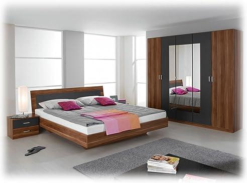 Komplette Schlafzimmer Trevi Kernnuß Mit 180X200 Bett 2