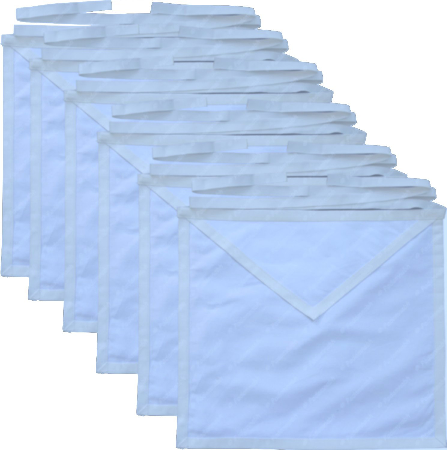 Masonic Member Aprons Set 12 Pack White Cotton Cloth For the Freemason By Equinox Masonic Regalia by Equinox MR