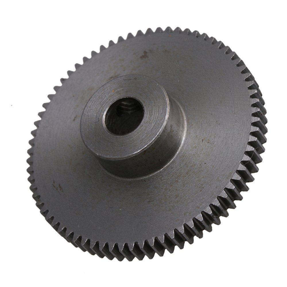 37x10mm 0.5 Modulus 45# Steel 72 Teeth Motor Gear for 6mm Shaft Motor