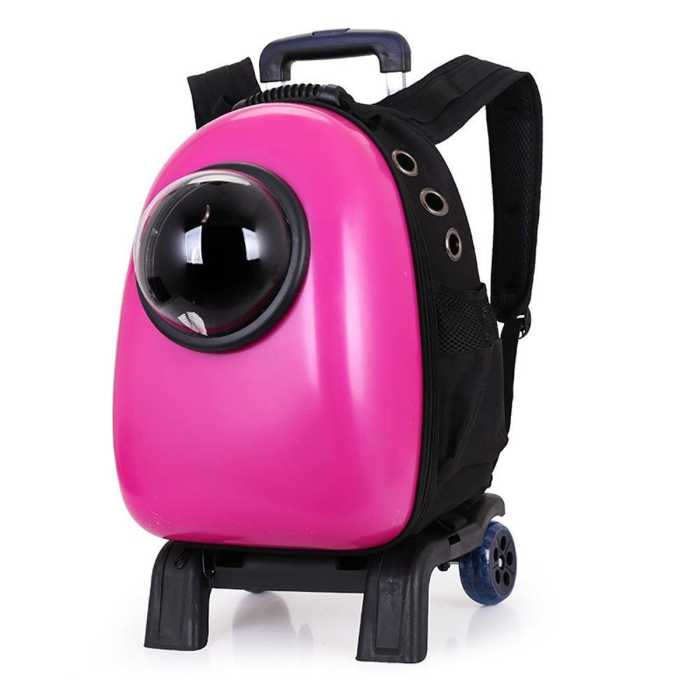 Daeou Pet Backpack Pet Space Bag Space Cabin Backpack Breathable Out Travel Pack Dog cat Then PVC 30  26  44cm