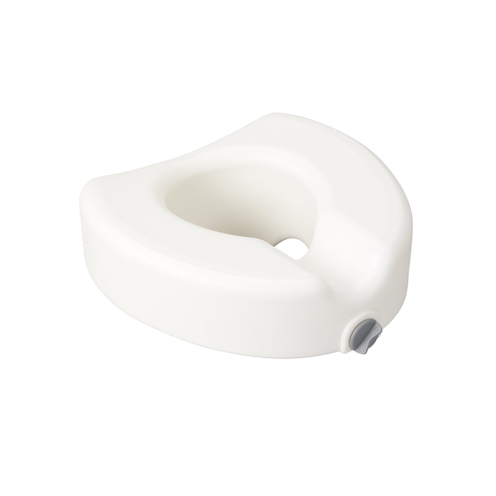 Drive Medical Premium Plastic Raised Toilet Seat with Lock, Elongated