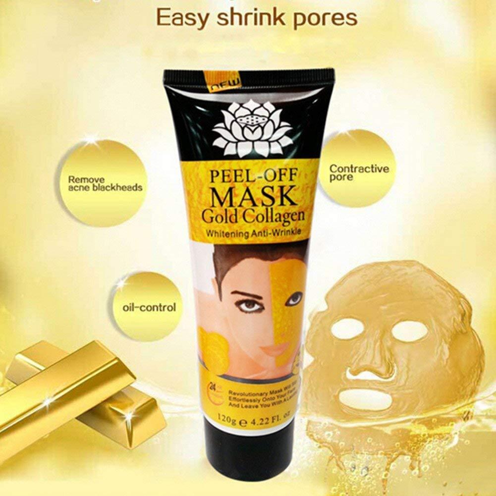 Pevor 24k Gold Mask Collagen Peel-off Facial Masks Anti-Aging Remove Blackhead Acne Anti-Wrinkle Whitening Skin