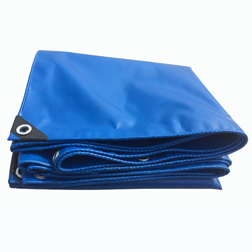 JIANFEI オーニング 防水耐寒性日焼け防止防風性耐摩耗PVC、厚さ0.32mmカスタマイズ可能 (色 : Blue, サイズ さいず : 4.8x4.8m) B07FTK81CP 4.8x4.8m|Blue Blue 4.8x4.8m