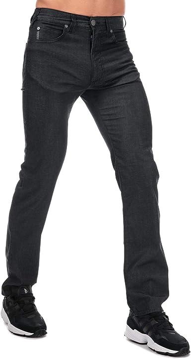 Armani Jeans J31 Pantalones Vaqueros De Ajuste Regular Para Hombre Color Negro Amazon Es Ropa Y Accesorios