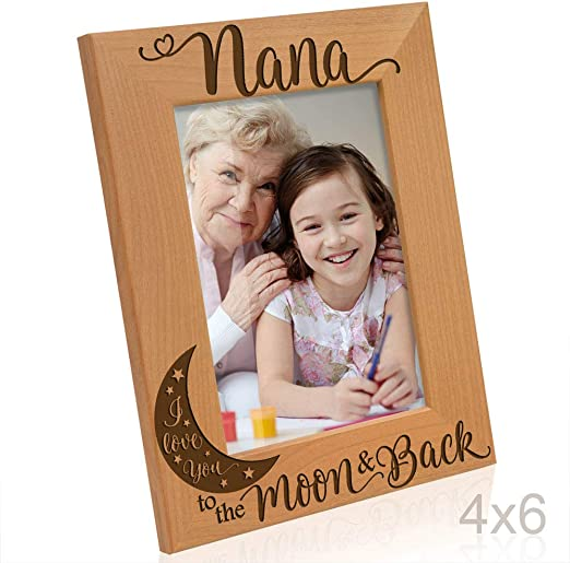 PERSONALISED PHOTO FRAME 6X4 LOVE YOU TO THE MOON AND BACK GRANDDAUGHTER