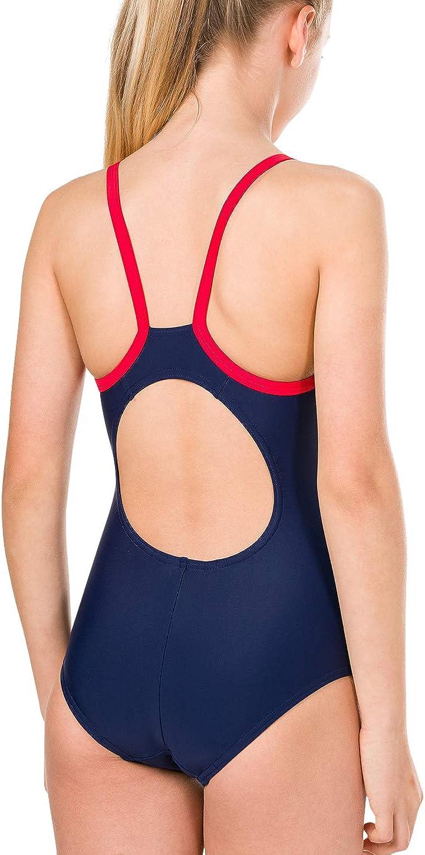 Speedo M/ädchen Gala Logo Thinstrap Muscleback Badeanzug