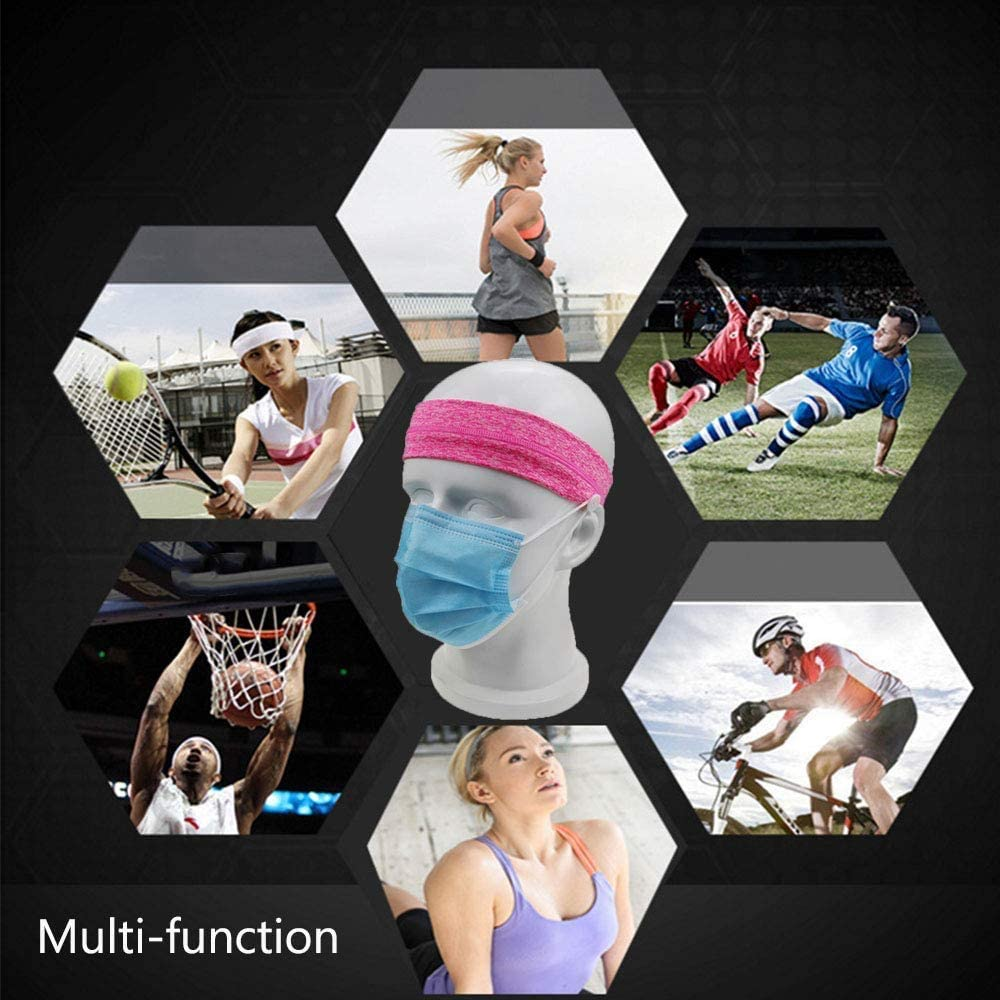 10 Pack Avril Tian 6 Pack Sports Headband,Unisex Sports Perspiration /& Forehead Protection Suite Workout Non Slip Headbands for Women and Men