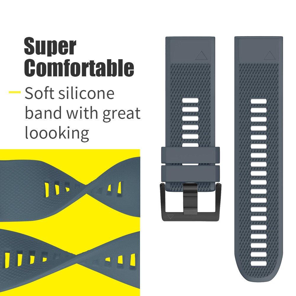 NotoCity Correa Compatible con Garmin Fenix 5 Antitranspirante Easy Fit 22 mm Pulsera Fitness de Silicona para Garmin Instinct//Garmin Fenix 5 Fenix 5 Plus//Forerunner 935//Approach S60//Quatix 5
